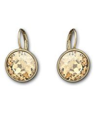 Swarovski | Yellow Bela Faceted Crystal Drop Earrings | Lyst