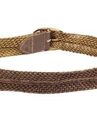 Linea Pelle | Metallic Vintage Braided Belt | Lyst