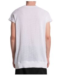 Damir Doma - White Perfored Cotton T-shirt for Men - Lyst