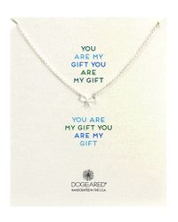 Dogeared | Metallic You Are My Gift Small Bow Necklace | Lyst