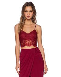 Lovers + Friends Red Remember Me Bralette