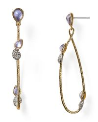 Alexis Bittar Blue Vine Link Dangling Earrings