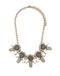 Forever 21 | Metallic Rhinestone Petal Statement Necklace | Lyst