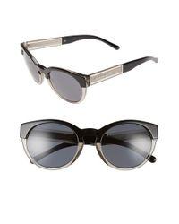 65480d3652de Lyst - Burberry 54mm Retro Sunglasses - Dark Tortoise in Blue