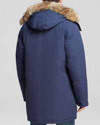 Canada Goose | Blue Langford Parka With Fur Hood for Men | Lyst