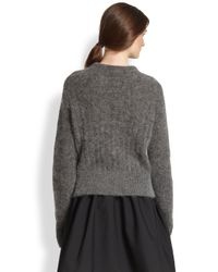 Acne Studios Gray Textured Ribbed Sweater