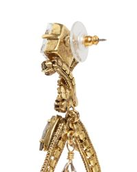 Erickson Beamon - Metallic 'heart Of Gold' Teardrop Crystal Earrings - Lyst