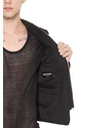 Balmain - Black Embellished Cotton Gabardine Jacket for Men - Lyst