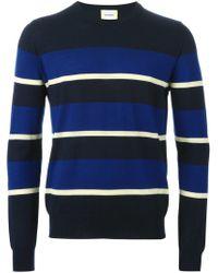 Iceberg - Blue Contrasting Stripe Sweater for Men - Lyst