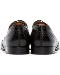 PS by Paul Smith Black High Shine Aldrich Brogues for men