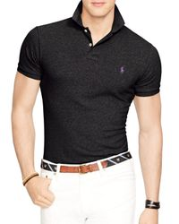 Ralph Lauren Black Polo Slim-fit Mesh Polo Shirt for men