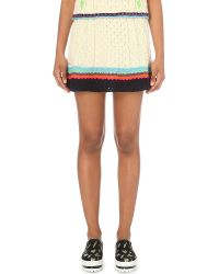 Katie Jones | Natural Sweetheart Wool-blend Skirt | Lyst