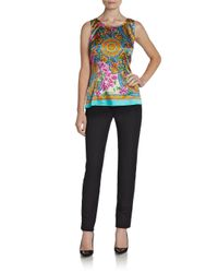 Dolce & Gabbana - Multicolor Baroque Floralprint Silk Top - Lyst