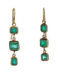 Judy Geib | Green Women's Emerald Triple-drop Earrings | Lyst