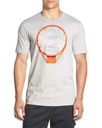 Nike | Metallic 'Just Net Basketball' Dri-Fit Graphic T-Shirt for Men | Lyst