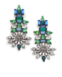 DANNIJO | Blue Everly Crystal Drop Earrings | Lyst
