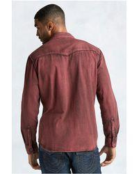 True Religion | Red Western Acid Wash Mens Shirt for Men | Lyst