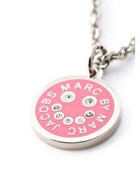 Marc By Marc Jacobs   Pink Enamel Disc Pendant Necklace   Lyst