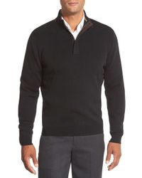 John W. Nordstrom | Black Merino Wool Quarter Zip Pullover for Men | Lyst