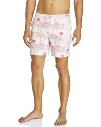 Robinson Les Bains | Pink Printed Oxford Long Swim Trunks for Men | Lyst