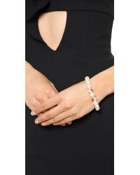 Venessa Arizaga - Te Amo Imitation Pearl Bracelet - Red - Lyst