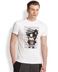 DSquared² - White Bulldog Mug Shot Tee for Men - Lyst