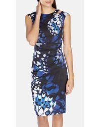 Karen Millen Blue Butterfly Wing Print Dress