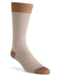 Pantherella Brown 'fabian - Vintage Collection' Egyptian Cotton Blend Socks for men