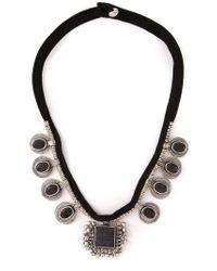 Saint Laurent | Black Multi Pendant Necklace | Lyst