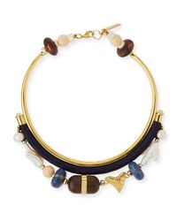 Lizzie Fortunato - Black El Mar Beaded Collar Necklace - Lyst
