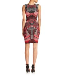 Rvn Curved Line 3d Printed Dress Lyst