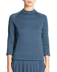 Nina Ricci | Blue Crewneck Cloque Sweater | Lyst