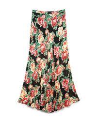 Forever 21 | Red Sweet Rose Maxi Skirt | Lyst