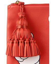Anya Hindmarch - Pink Victory Eyes Georgiana Leather Clutch - Lyst