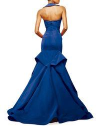 Zac Posen - Blue Halter-neck Trumpet Gown - Lyst