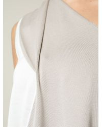 Agnona White One-shoulder Knit Top