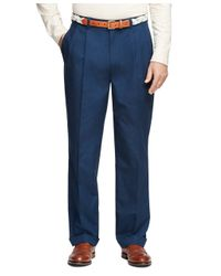 Brooks Brothers - Blue Elliot Fit Supima® Cotton Poplin Pants for Men - Lyst