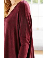 Silence + Noise Purple Felicity V-neck Top