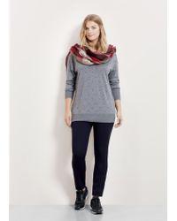 Violeta by Mango | Blue Zip Cotton Trousers | Lyst
