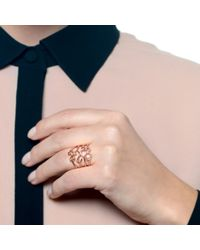 Lulu Frost | Metallic Code Number 14kt Rose Gold #0 Ring | Lyst