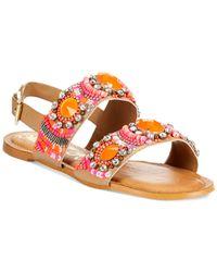 Naughty Monkey | Pink Bubble Pop Gemstone Flat Sandals | Lyst