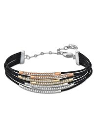 Swarovski | Black Vi Crystal And Tri-Tone Bracelet | Lyst