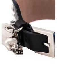 Alexander McQueen | Black Studded Skull Charm Bracelet | Lyst