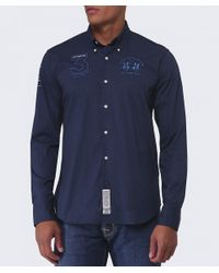 La Martina | Blue Slim Fit No. 3 Shirt for Men | Lyst