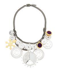 Eddie Borgo Metallic Tricolor Challenge Necklace
