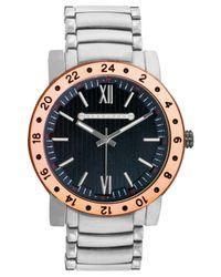 Sean John Metallic Men's Silver-tone Bracelet Watch 54x47mm 10018033 for men