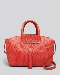 B Brian Atwood | Red Tote Gloria Snake Small | Lyst