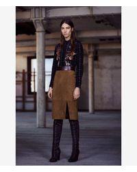 AllSaints | Brown Laced Levitt Skirt | Lyst