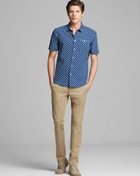 Marc By Marc Jacobs Blue Catlina Short Sleeve Sport Shirt Slim Fit for men