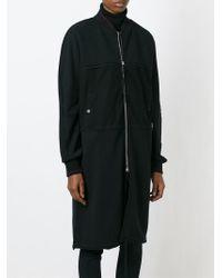 Silent - Damir Doma - Black Long Bomber-Style Jacket - Lyst